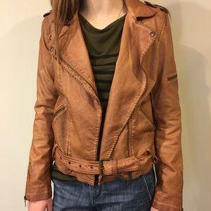 Zara Trafaluc faux leather moto jacket